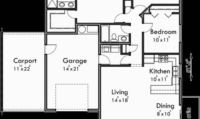 Duplex House Plans One Story