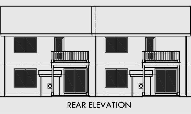 Duplex House Plans Wide