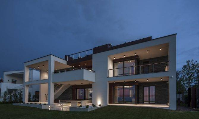 Duplex House Toth Project Hungary Architectural Home Designs