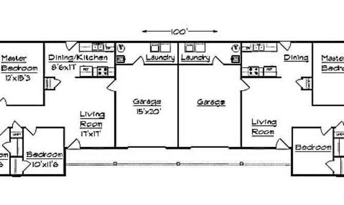 Duplex Plan Garage
