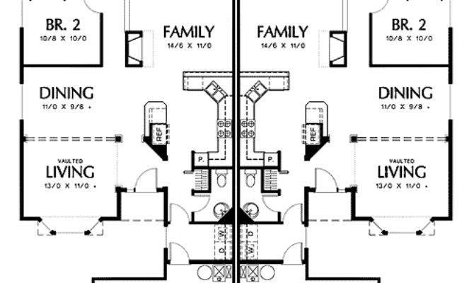 Duplex Side Load Garage One Unit