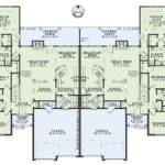 Duplex Townhome Plans House Multi Pinterest