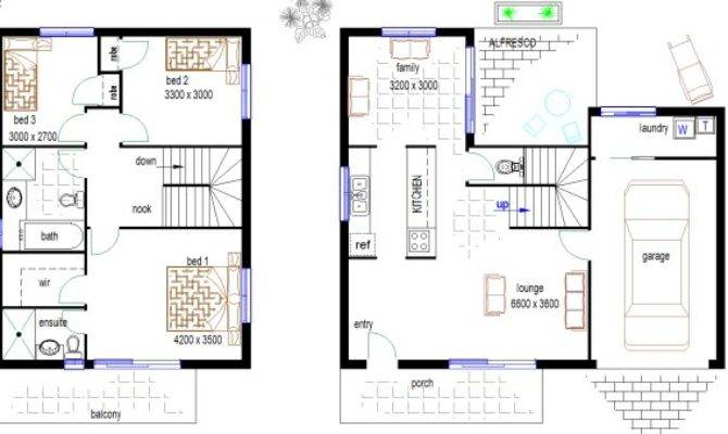 Duplex Townhouse House Plan Plans