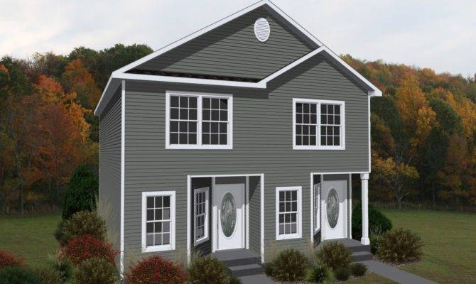 Each Unit Two Story Duplex Has Bedrooms One Half