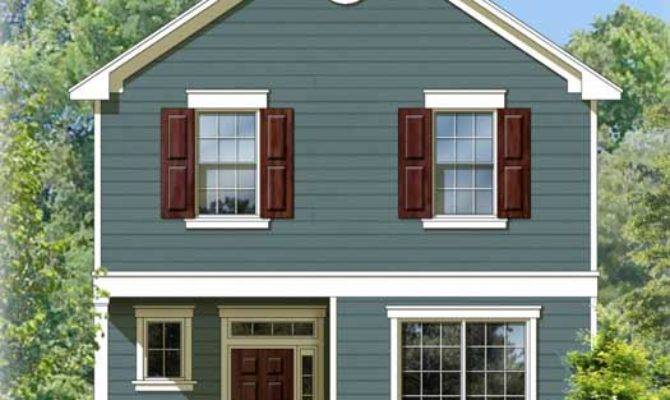 Early American House Plan Bedrooms Bath