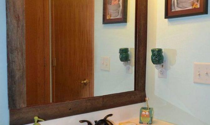 Easy Diy Reclaimed Wood Frame Builders Grade Mirror