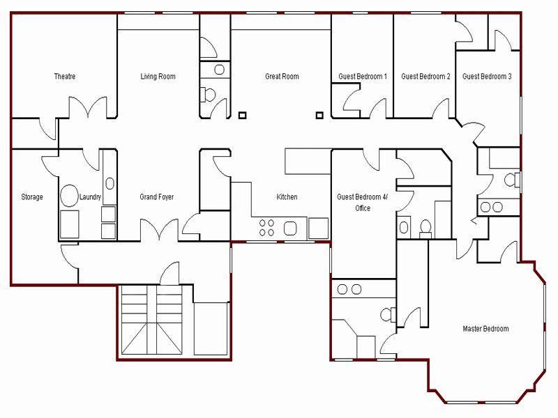 Easy House Floor Plan Simple Create Plans