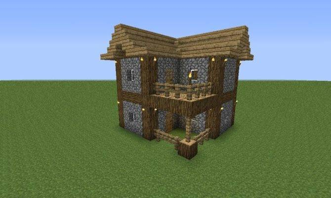 Easy Make Minecraft House Pinterest