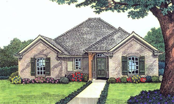 Ebert Narrow Lot Ranch Home Plan House Plans More