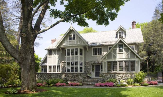 Eclectic Modern Tudor Exterior Traditional