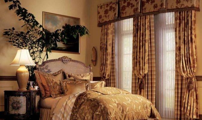 Elegant Bedroom Window Curtains Luminette Drapes