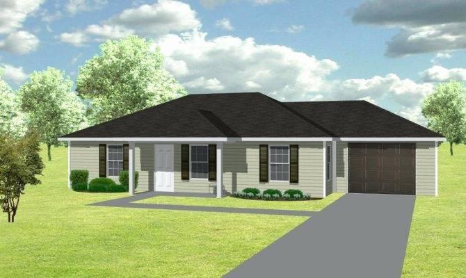 Elegant Simple House Plans Double Garage