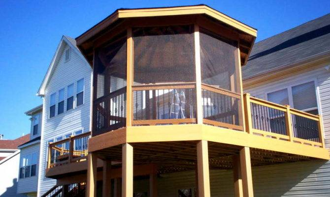Elevated Deck Plans Screen Porch Outdoor