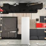 Ellenpodesign Loft Style One Room Apartment Design