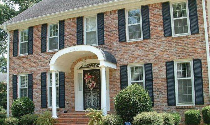 Elliptical Porch Overhang Remodeling Detail Entryway Design