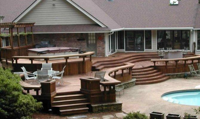 Emejing Deck Designs Ranch Homes Decoration
