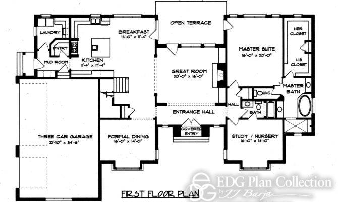 English Country House Floor Plan