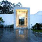 Entrance Sophisticated Three Story Home Mexico