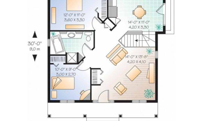 Eplans Bungalow House Plan Nice Little Starter Home Square