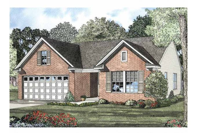 Eplans Colonial House Plan Empty Nest Home Square Feet