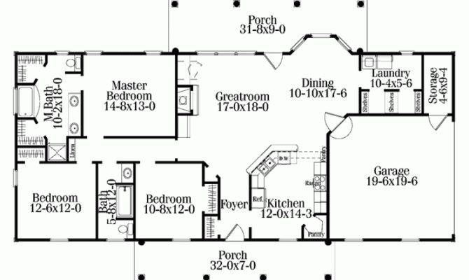 Eplans Colonial House Plan Single Level Living Square Feet