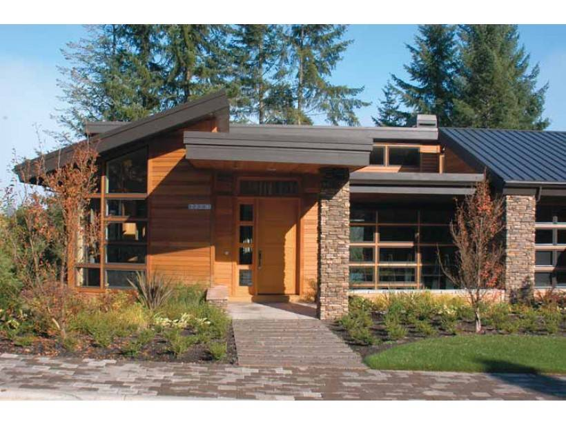 Eplans Contemporary Modern House Plan Nature Theme Square