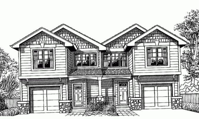 Eplans Contemporary Modern House Plan Urban Infill Duplex