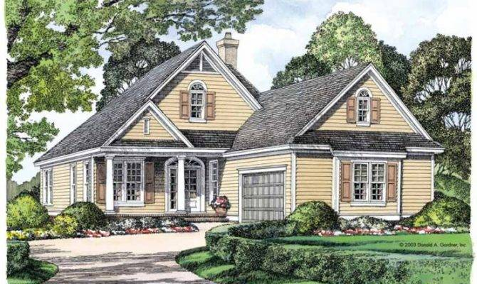 Eplans Cottage House Plan Big Living Narrow Lot Square