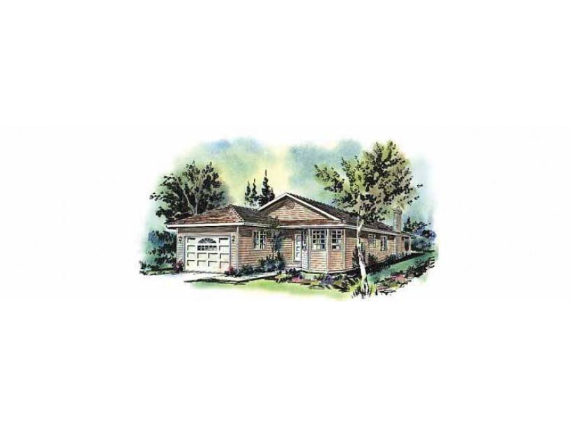 Eplans Cottage House Plan Compact Ranch Narrow Lot Square