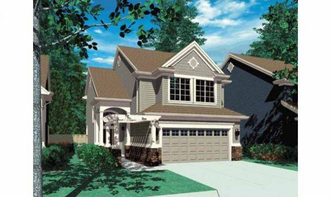 Eplans Cottage House Plan Super Narrow Lot Bungalow Square