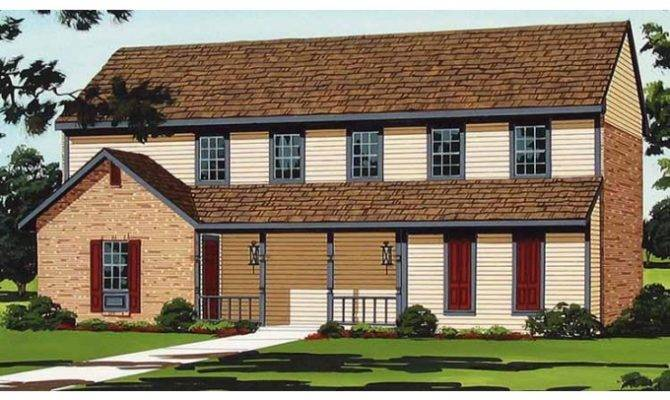 Eplans Country House Plan Alluring Two Story Duplex Home