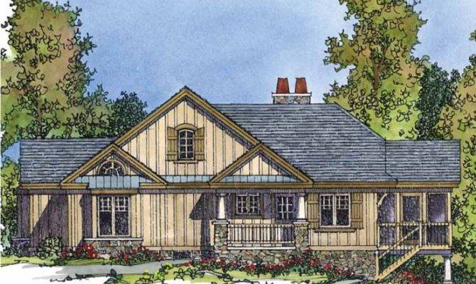 Eplans Country House Plan Lakefront Home Sloping Lot