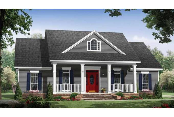 Eplans Country House Plan Small Home Large Porches