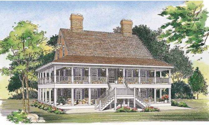 Eplans Country House Plan Two Levels Wraparound Porches