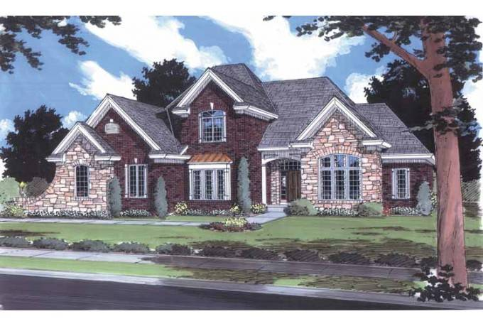Eplans French Country House Plan Stone Accented Brick Facade