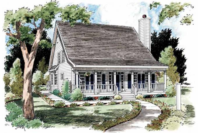 Eplans Low Country House Plan Creole Cottage Square Feet