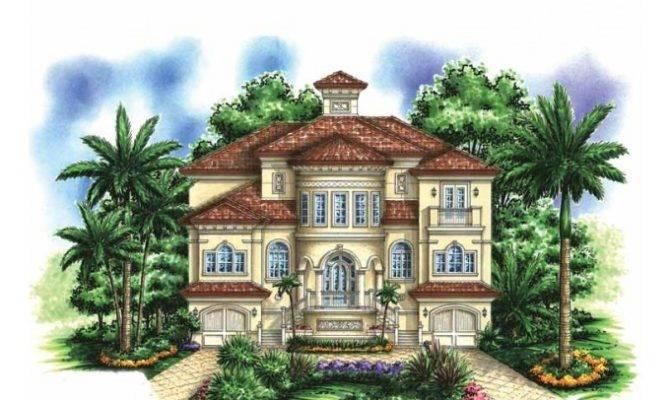 Eplans Mediterranean Modern House Plan Story Beach Home