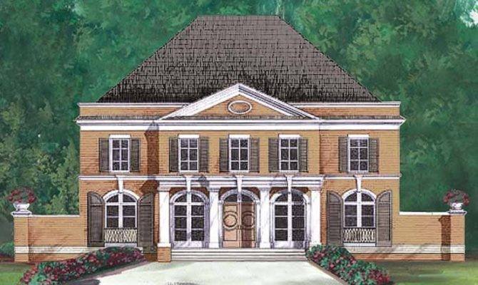 Eplans Neoclassical House Plan Graceful Columns Square Feet