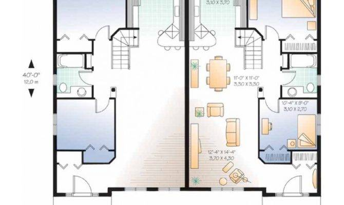 Eplans New American House Plan Duplex Identical Floor Plans