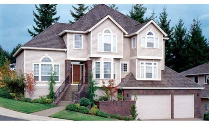 Eplans New American House Plan Lower Level Garage Square Feet