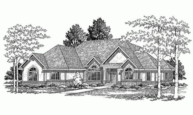 Eplans New American House Plan Luxurious One Half Story