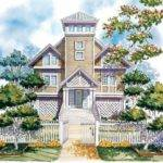Eplans New American House Plan Observation Tower Square Feet