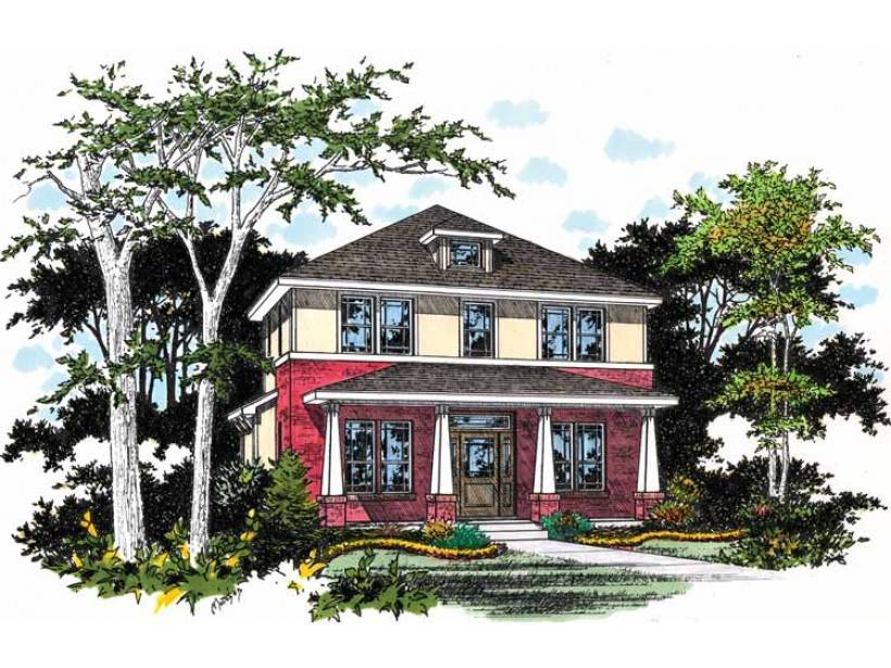 Eplans Prairie House Plan Pillared Porch Square Feet