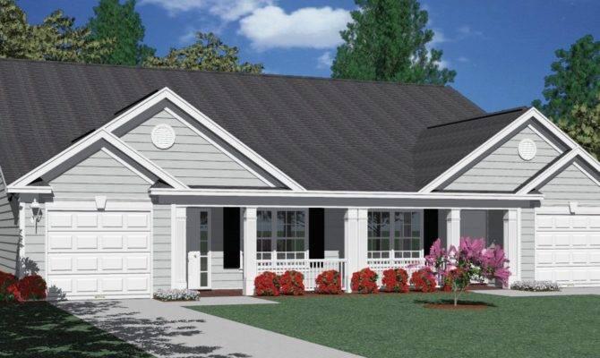 Eplans Ranch House Plan Charming Duplex Two Car Garage
