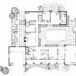 Eplans Ranch House Plan Courtyard Classic Square Feet