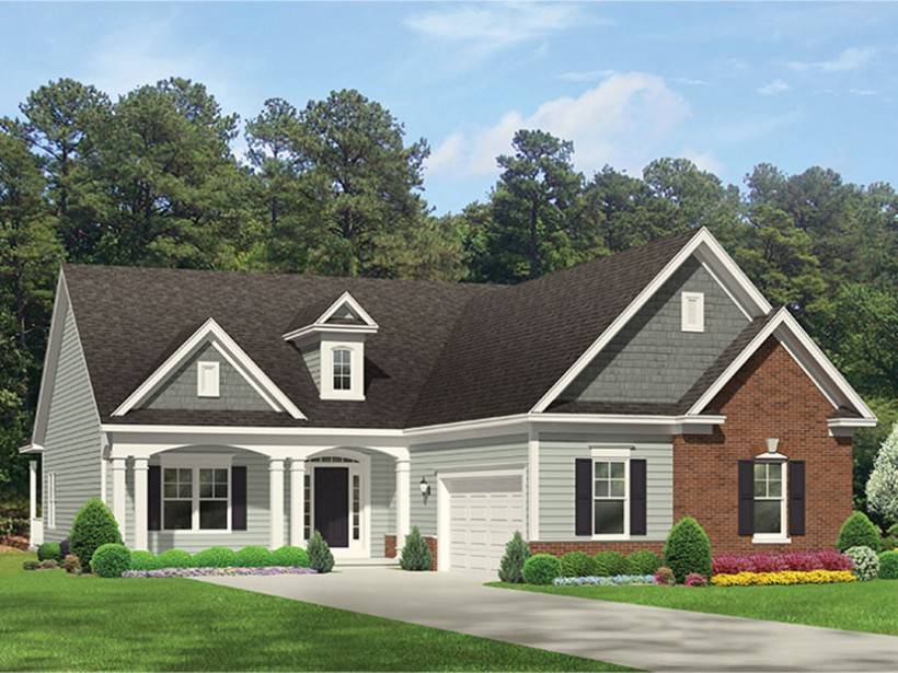 Eplans Ranch House Plan Courtyard Style Square Feet