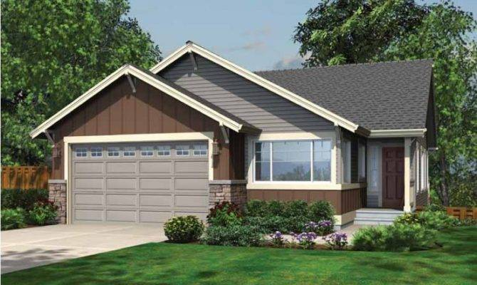 Eplans Ranch House Plan Cozy Style Narrow Lot
