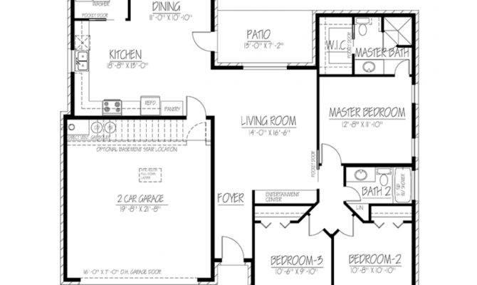 Eplans Ranch House Plan Small Footprint Lots Space