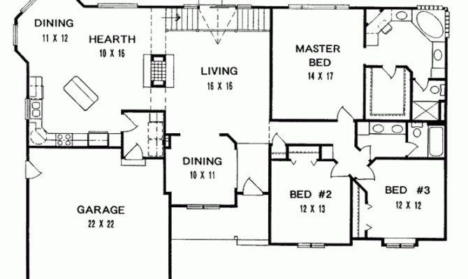 Eplans Ranch House Plan Three Bedroom Square Feet