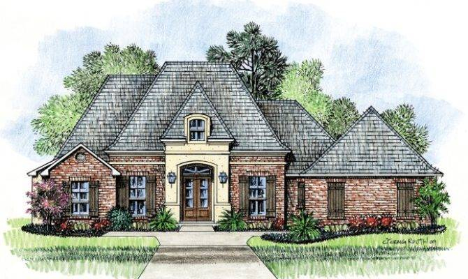 Erath Country French Home Plans Louisiana House